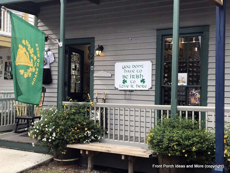 St. Augustine shop ready for St Patricks Day
