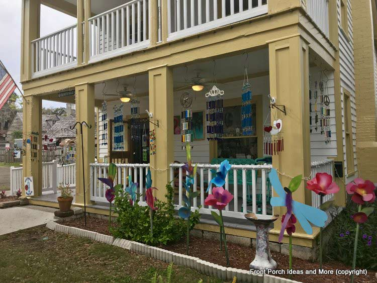 A shop with many wind chimes in St. Augustine