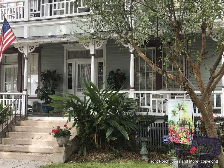 A wonderful southern home and gracious porch  in St. Augustine FL
