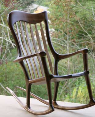 Lindau Hand-crafted rocking chair left front view