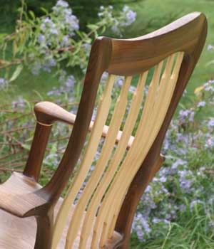 Lindau Hand-crafted rocking chair back view