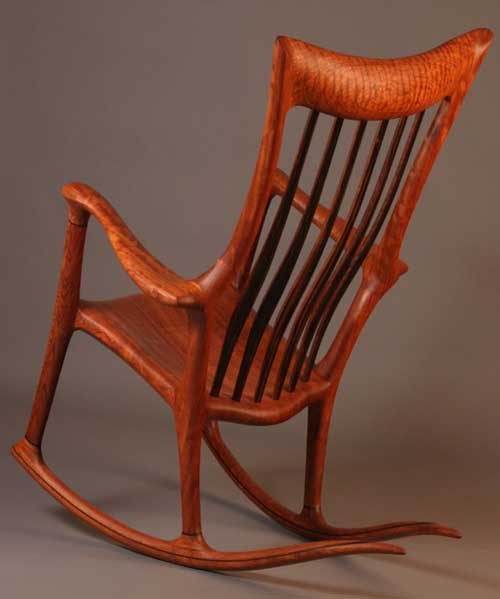 Lindau Handmade rocking chair rear view