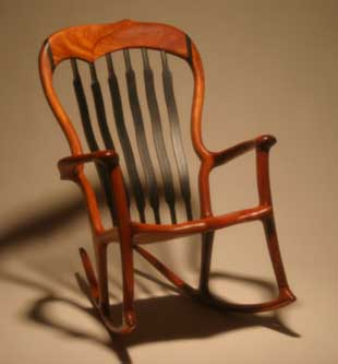 Lindau Beautifully handcrafted rocker front view