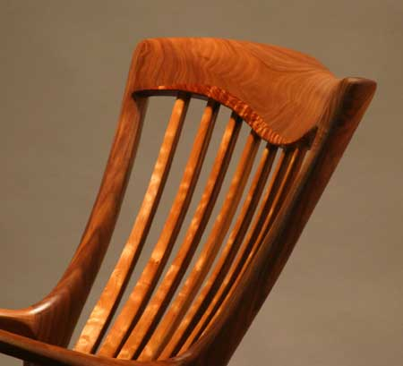 Lindau Beautifully handcrafted rocker front top view