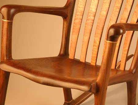 Lindau Handmade rocking chair front seat view