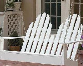 Ideal Adirondack porch swing from amazon