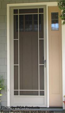 attractive aluminum screen door for front porch