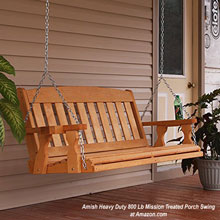 Amish mission style heavy duty porch swing