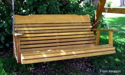 Amish porch swing from Amazon