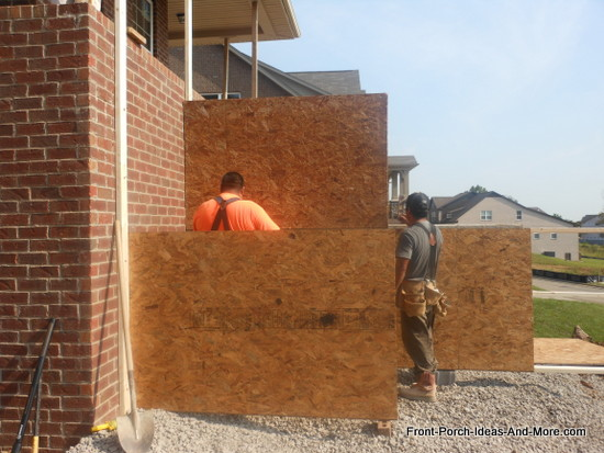 attaching the second level of plywood to achieve desired height
