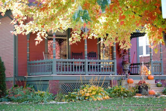 Beautiful autumn porch