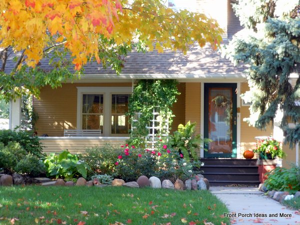 Lovely autumn porch perfect for porch sitting