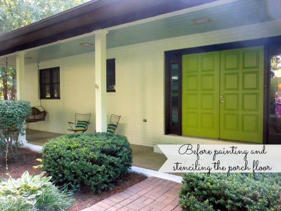 Porch Makeover Ideas Front Door Paint Colors Stenciling A - Front porch makeover ideas
