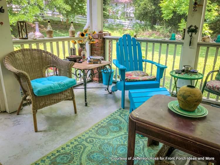 summertime back porch
