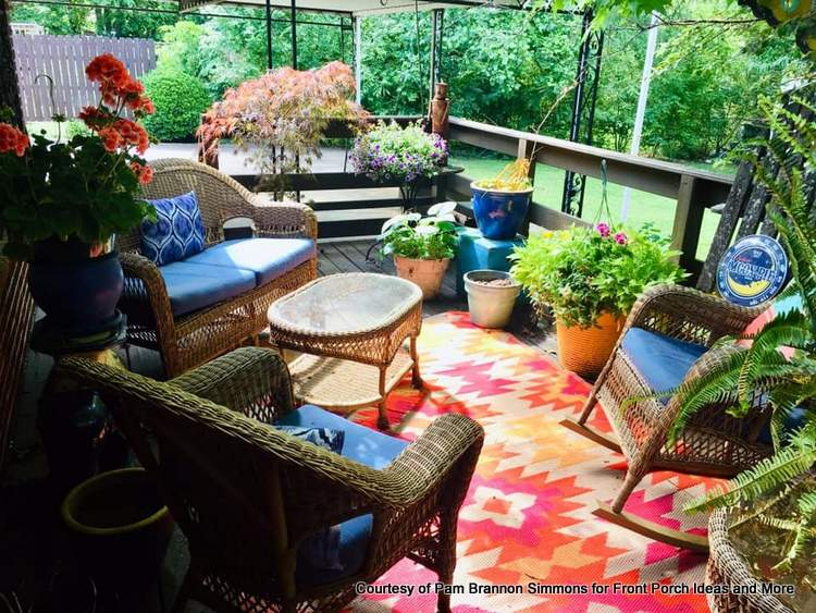 Pam's back porch is ready for friends and neighbors to enjoy