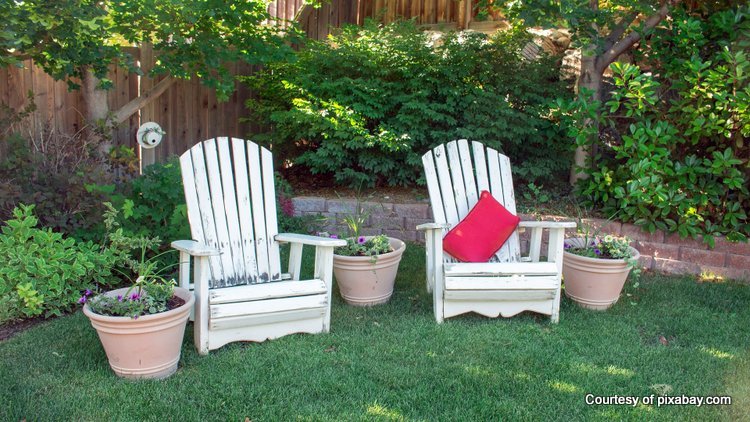Be sure to include some comfortable chairs for lounging in your backyard