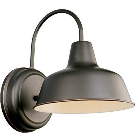 Barn style lamp - from Amazon. We have something similar on our porch