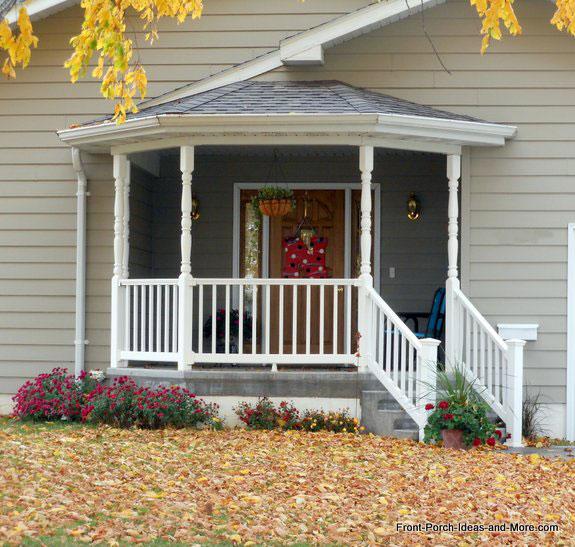 Holdrege nebraska front porch ideas autumn porch for Porch roof types