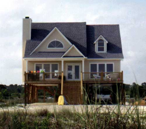Beach houses coastal houses front porch pictures for Coastal beach house plans