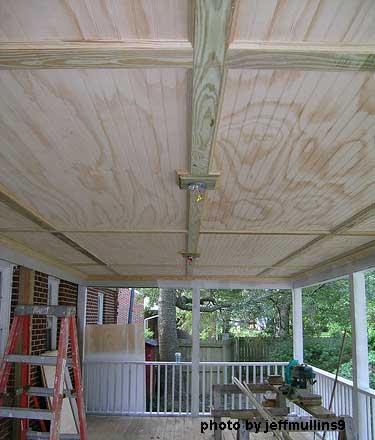 Porch ceiling beadboard ceiling vinyl beadboard for Balcony ceiling design