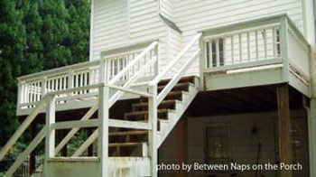 Susan's before screen porch deck