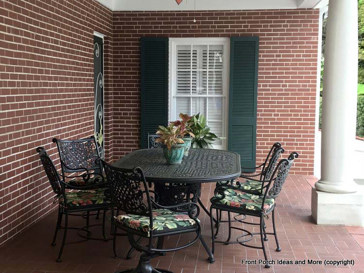 St Augustine Fl porch - dining area