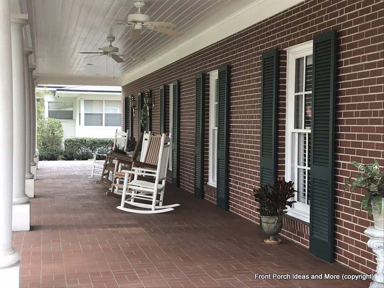 St Augustine Fl porch on gorgeous brick home