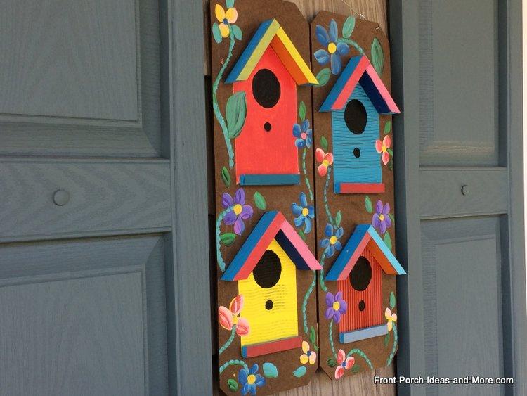 Birdhouse wall art - so fun to make!