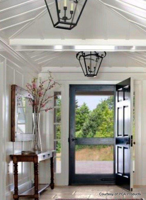 black doors are popular indoors too