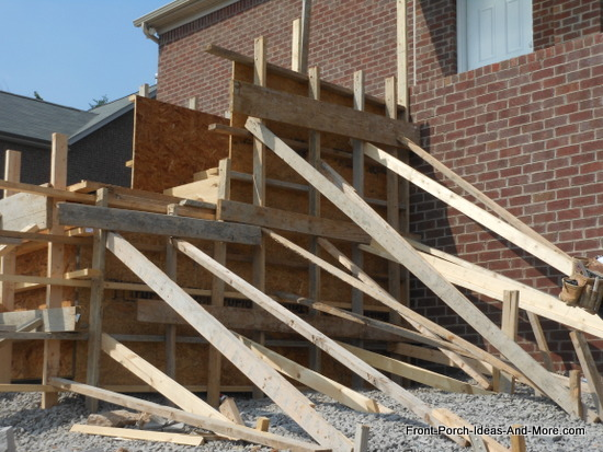 Additional Bracing Is Added To Support Structure