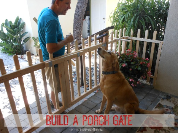 build a porch gate and make your dog happy