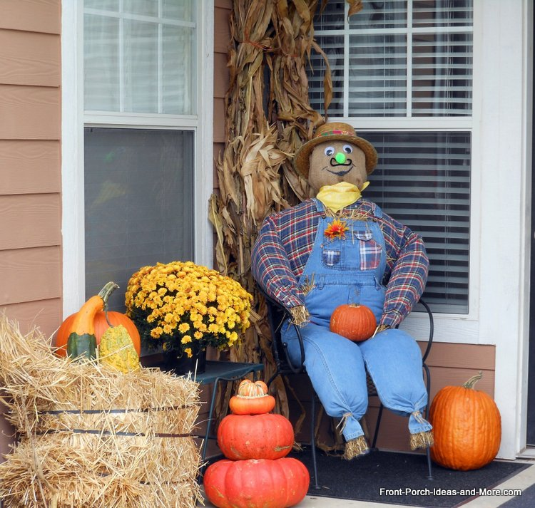 the scarecrow we built for our porch