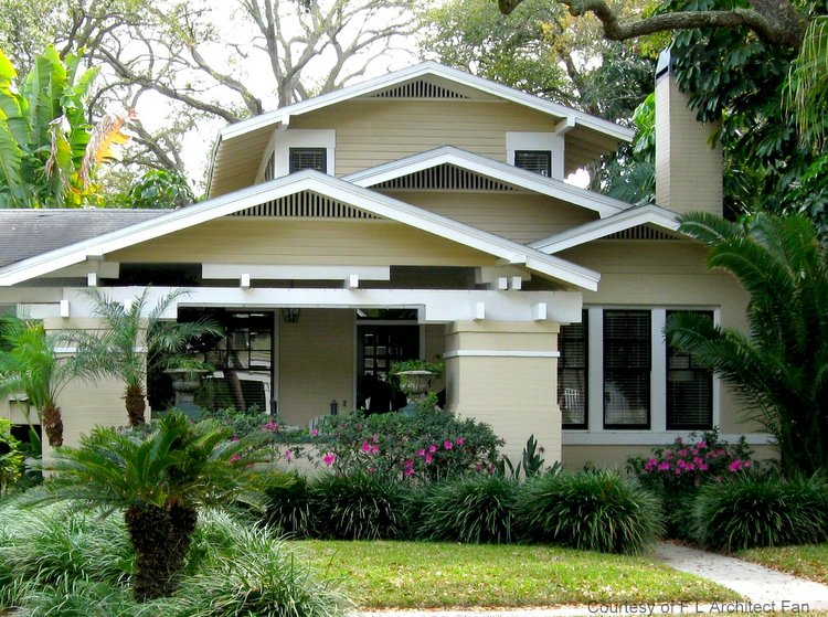 Rather Large Wrap Around Front Porch On An Arts And Crafts Style Home Wonderful Architectural Lines This Bungalow