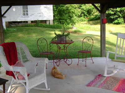 A Pretty Red Bistro Table Perfect For A Picnic Lunch