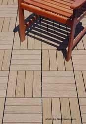 Composite deck tiles-chestnut
