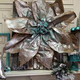 Kraft paper poinsettia from Dreaming In Color