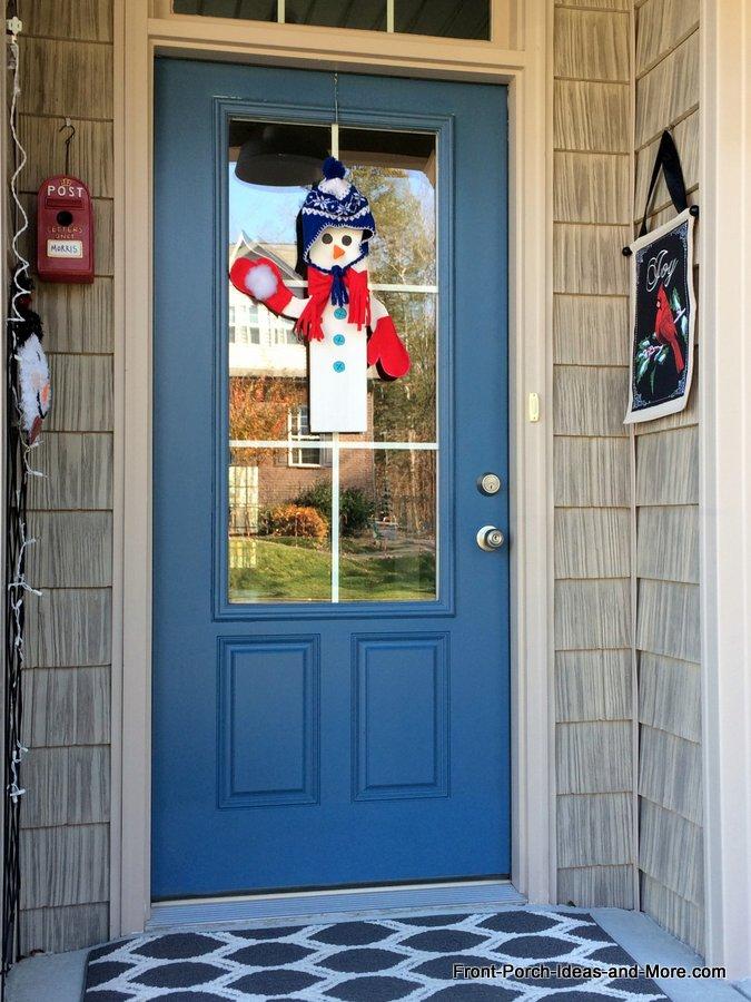 snowman on our front door