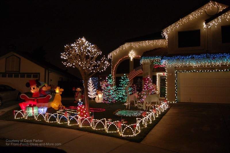 decorate your porch with lights amazing outdoor christmas lights - Outdoor Christmas Decorating Ideas Front Porch