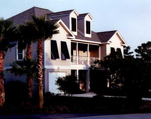 A stately coastal home