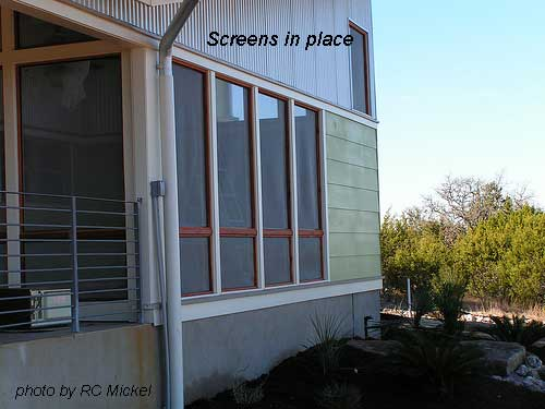 Screen in place