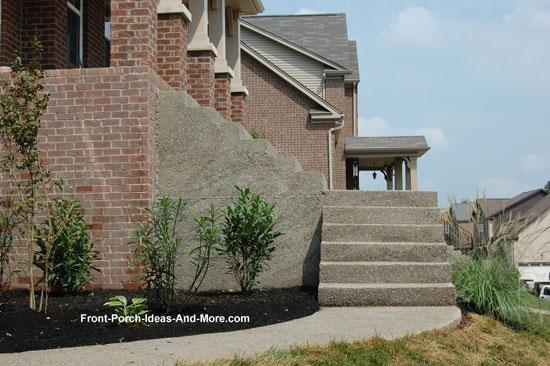 finished concrete porch steps