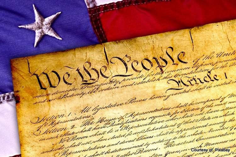 Patriotic flag and constitution