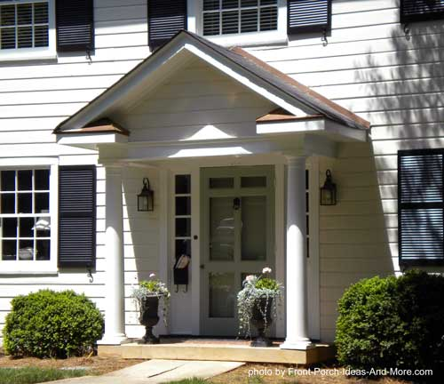 Front Porch With Gable Roof Design