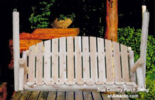 white cedar country porch swing
