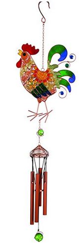 country rooster wind chime from amazon