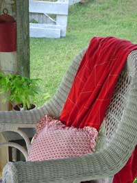Cozy wicker rocker