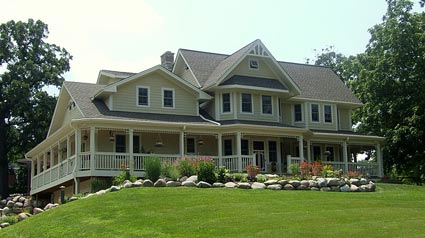 Craftsman Farm House wraparound porch