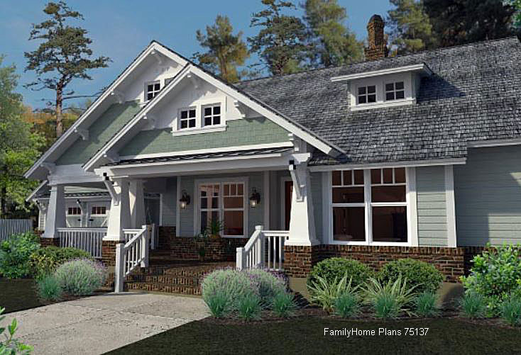 Craftsman style home plans craftsman style house plans for Craftsman style gables