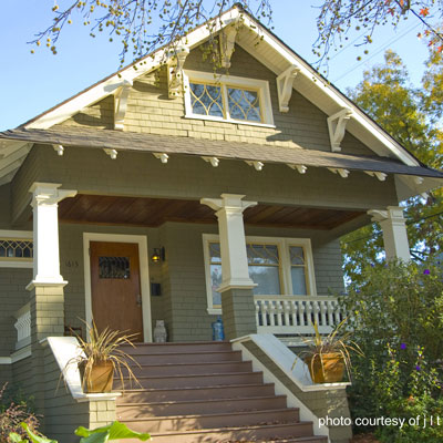 craftsman style home and front porch - Porch Designs Ideas