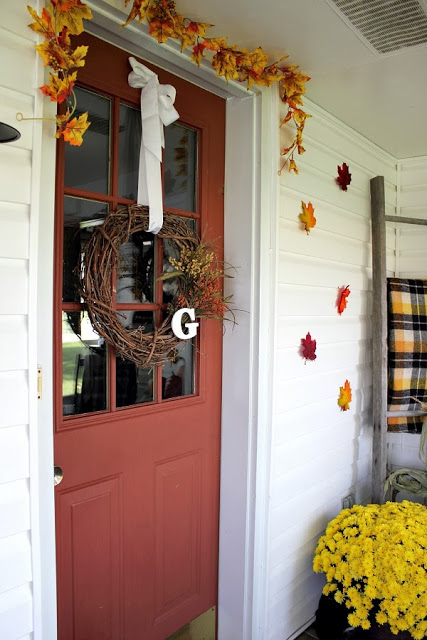 Creek Line House Fall Front Porch
